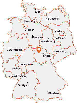 Wo liegt Hörselberg-Hainich