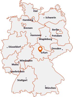 Wo liegt Arnstadt