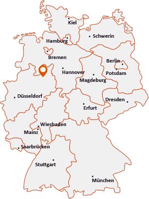 bielefeld karte Postleitzahl Bielefeld