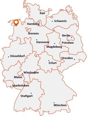 Wo liegt Brinkum