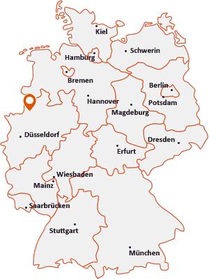 Wo liegt Coesfeld