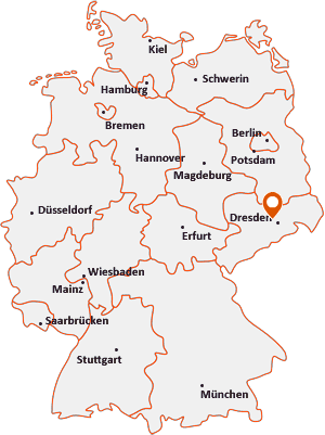 Wo liegt Coswig (Sachsen)
