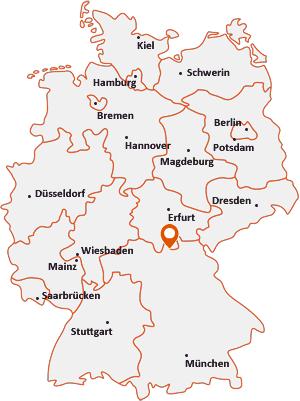 Wo liegt Ebersdorf bei Coburg