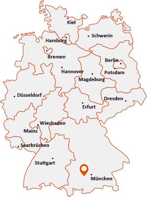 Wo liegt Eching am Ammersee