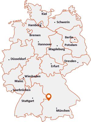Wo liegt Ehingen (Kreis Augsburg)