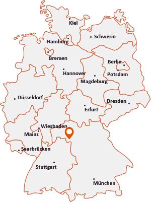 Wo liegt Frickenhausen am Main