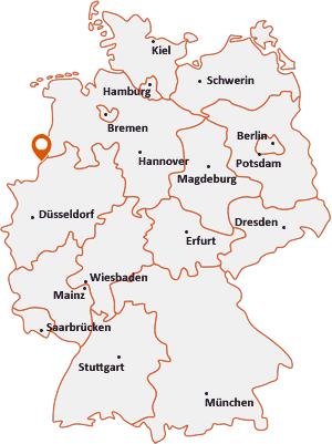 Wo liegt Gronau (Westfalen)