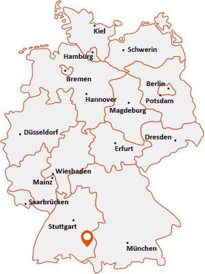 Wo liegt Hochdorf (Riß)