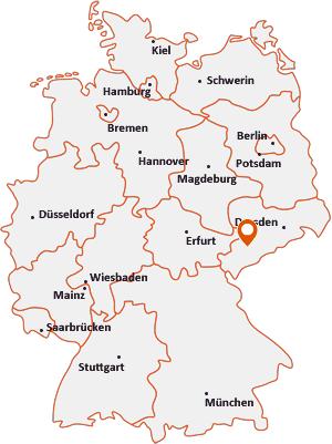Wo liegt Oelsnitz/Erzgebirge
