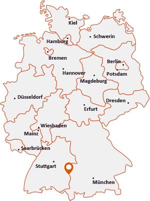 Wo liegt Vöhringen (Iller)
