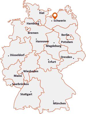 Wo liegt Weitendorf bei Brüel