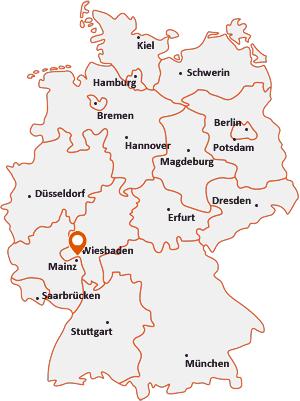 Wo liegt Wiesbaden