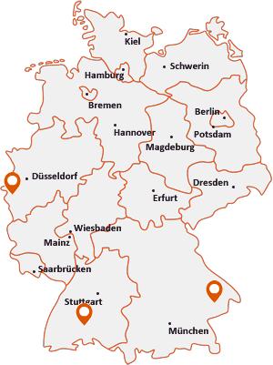 Orte mit Ald auf der Deutschlandkarte