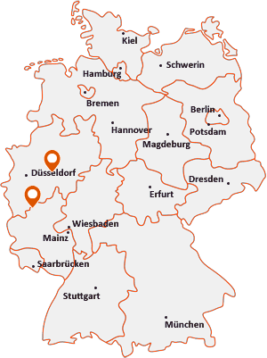 Orte mit Altena auf der Deutschlandkarte