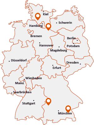 Orte mit Altenm auf der Deutschlandkarte