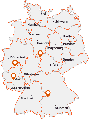 Orte mit Asb auf der Deutschlandkarte