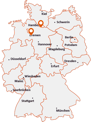 Orte mit Ase auf der Deutschlandkarte