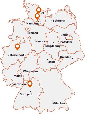 Orte mit Bön auf der Deutschlandkarte