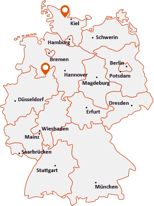 Orte mit Bün auf der Deutschlandkarte
