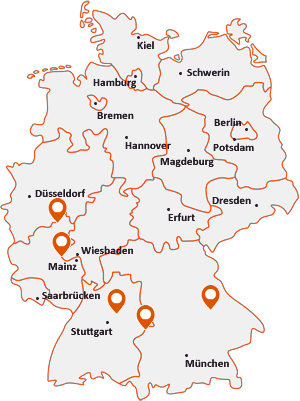 Orte mit Bac auf der Deutschlandkarte