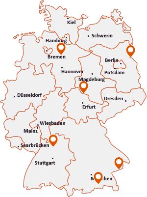Orte mit Bad F auf der Deutschlandkarte
