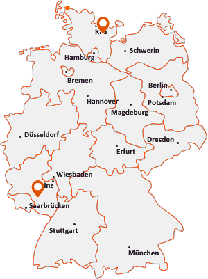 Orte mit Bos auf der Deutschlandkarte