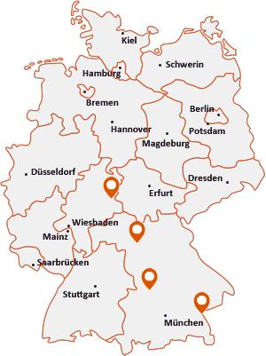 Orte mit Burgh auf der Deutschlandkarte