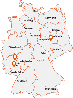 Orte mit Des auf der Deutschlandkarte