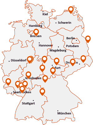 Orte mit Fran auf der Deutschlandkarte