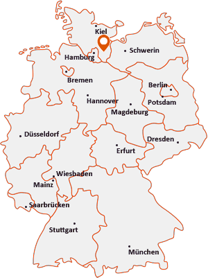 Orte mit Hamf auf der Deutschlandkarte