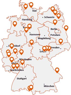Orte mit Lind auf der Deutschlandkarte