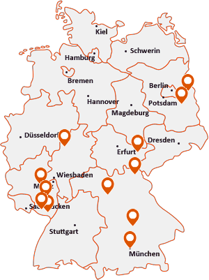 Orte mit Münc auf der Deutschlandkarte