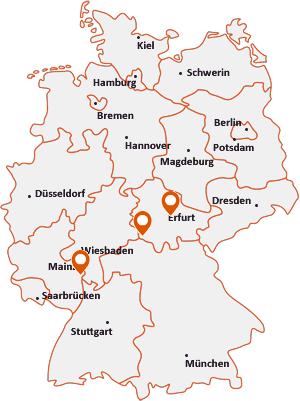 Orte mit Osth auf der Deutschlandkarte