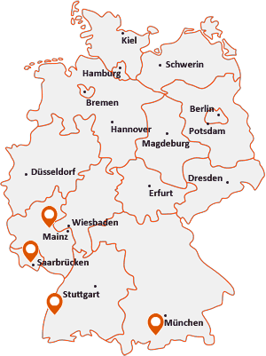 Orte mit Rieg auf der Deutschlandkarte