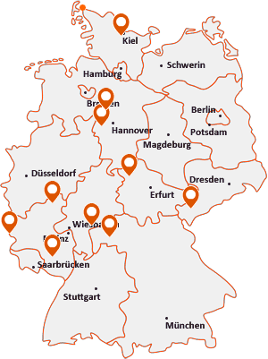 Orte mit Rode auf der Deutschlandkarte