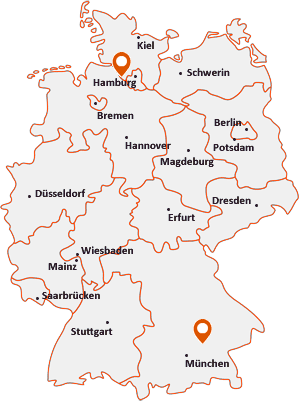 Orte mit Steink auf der Deutschlandkarte