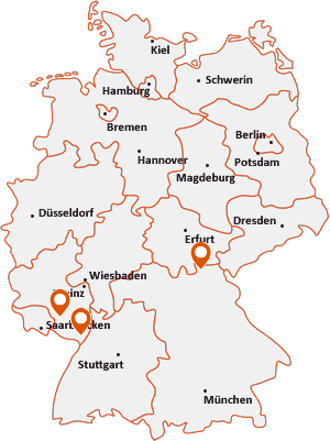 Orte mit Steinw auf der Deutschlandkarte