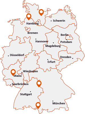 Orte mit Sti auf der Deutschlandkarte