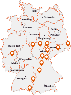 Orte mit Weiße auf der Deutschlandkarte