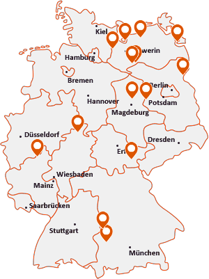 Orte mit Zie auf der Deutschlandkarte