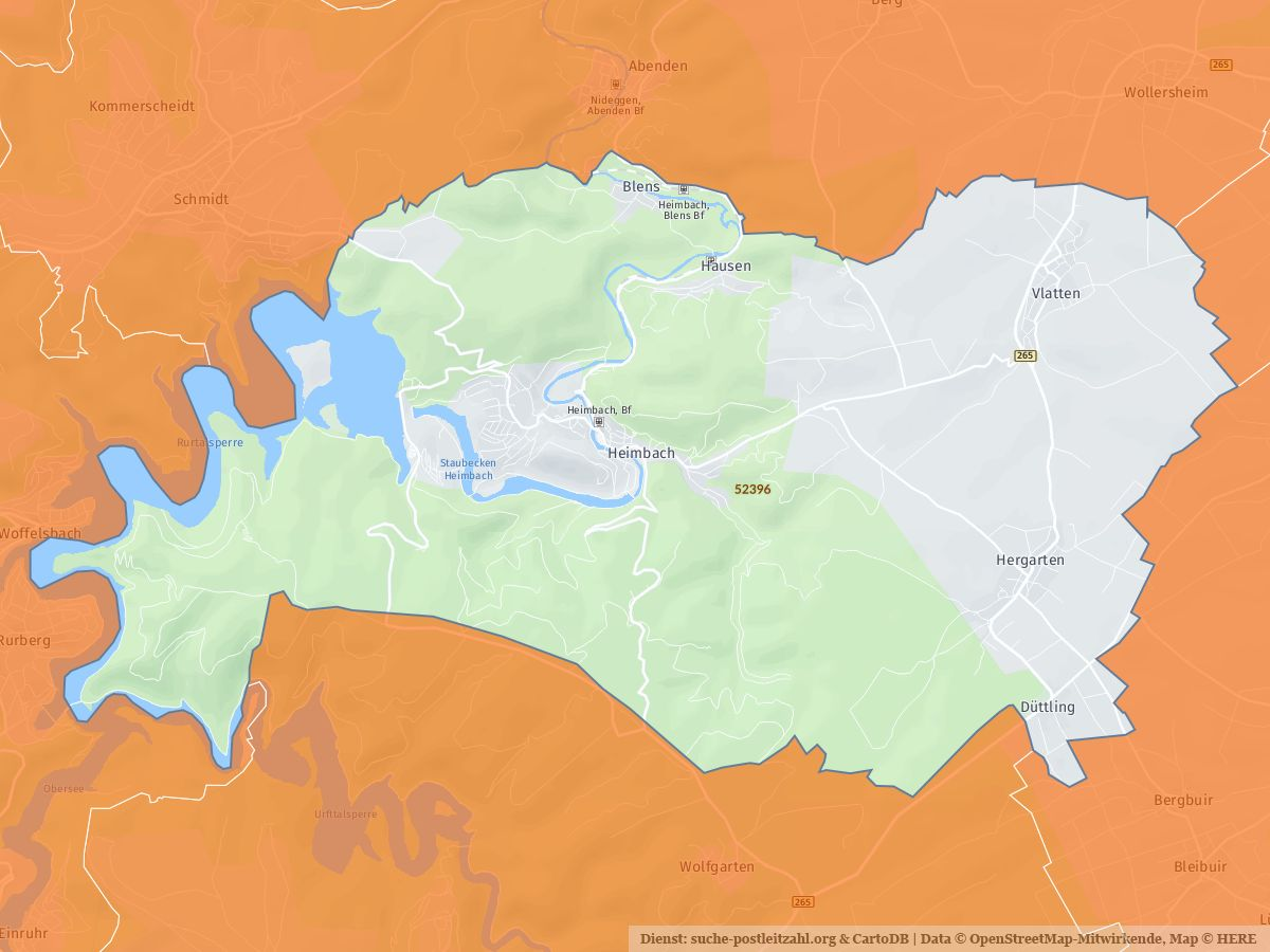 heimbach eifel karte 52396 Heimbach (Eifel) mit PLZ Karte und Straßenverzeichnis