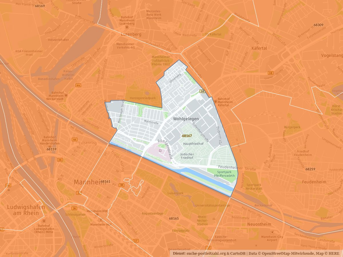 Mannheim Bundesland Karte.68167 Mannheim Mit Plz Karte Und Straßenverzeichnis