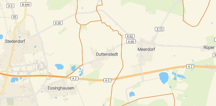 Straßenkarte mit Hausnummern Duttenstedt