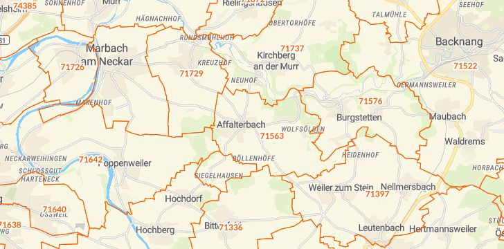 Straßenkarte mit Hausnummern Affalterbach
