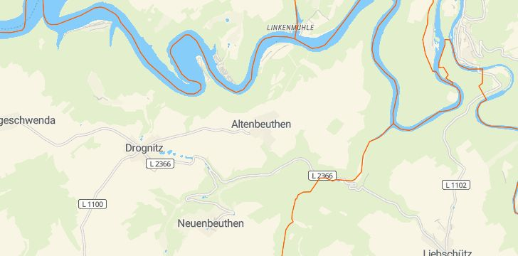 Straßenkarte mit Hausnummern Altenbeuthen