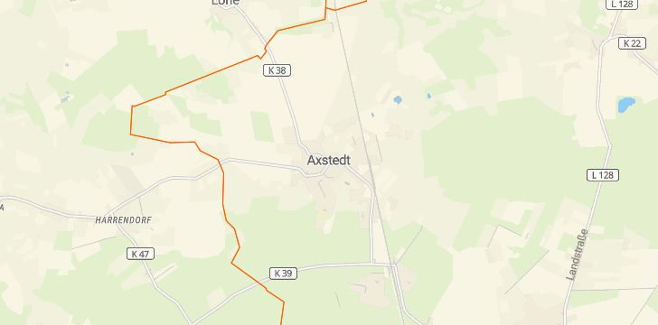Straßenkarte mit Hausnummern Axstedt