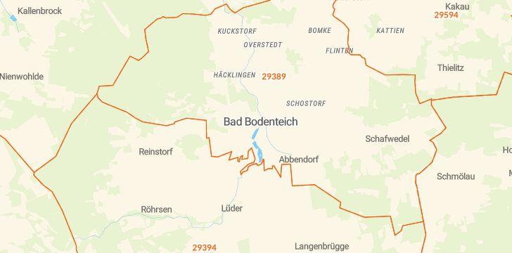 Straßenkarte mit Hausnummern Bad Bodenteich