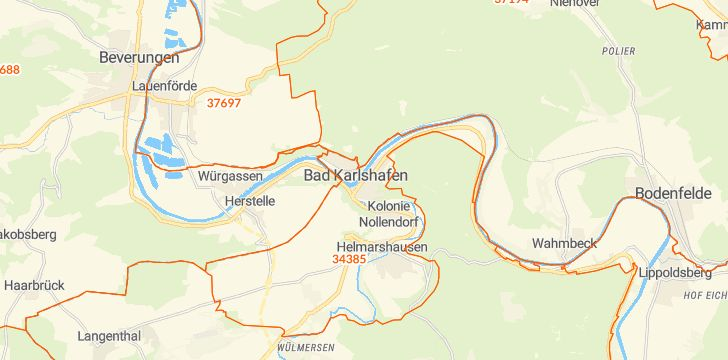 Straßenkarte mit Hausnummern Bad Karlshafen