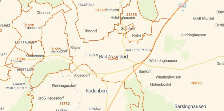 Straßenkarte mit Hausnummern Bad Nenndorf
