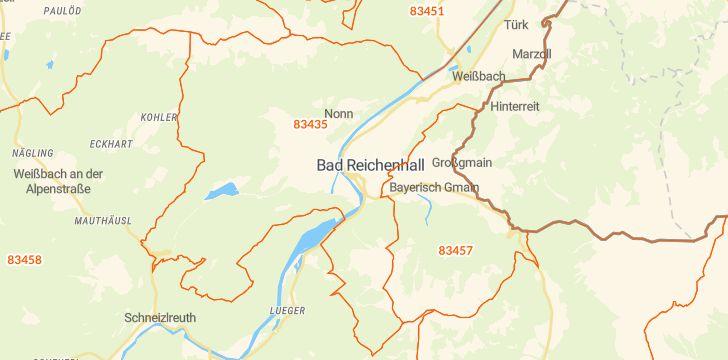 Straßenkarte mit Hausnummern Bad Reichenhall